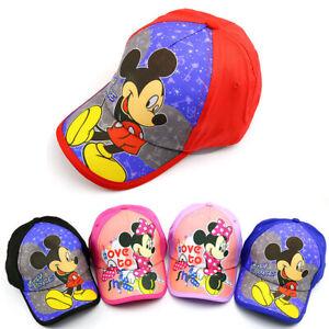 6d8559ac7c6f0f Kid Boy Mickey Mouse Cartoon Hip Hop Casual Baseball Cap Children ...