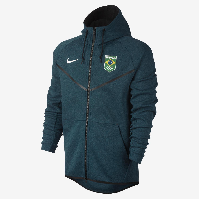 Nike Tech Fleece Team Brasilien Windläufer Herren Kapuzenpulli 807612 346 Größe