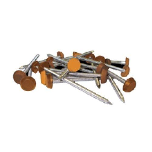 50 x 30mm Light Oak Tan Poly Top Upvc Pins Nails Plastic Headed polytop