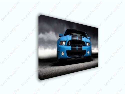Ford Mustang Cobra #2 Sports Car Poster Canvas Print Art Home Decor Wall Art