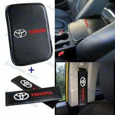 For Toyota New Embroidery Car Center Armrest Cushion Mat Pad Cover Combo Set Fits 1985 Supra