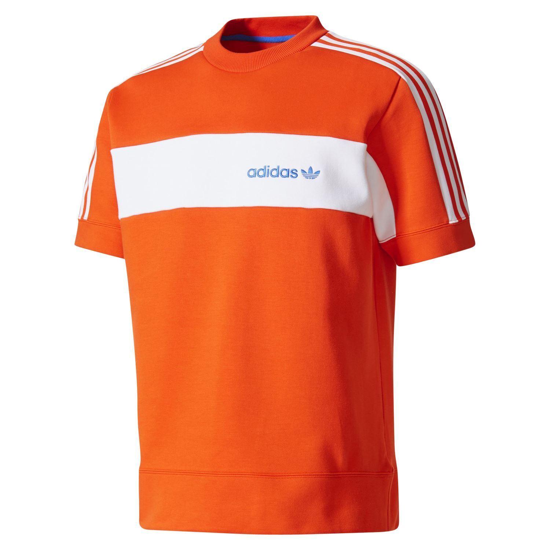 e30d39b8920b7 Adidas Originali Originali Originali Minoh T-Shirt a Girocollo Arancione  Pile Rétro Trifoglio 735c97
