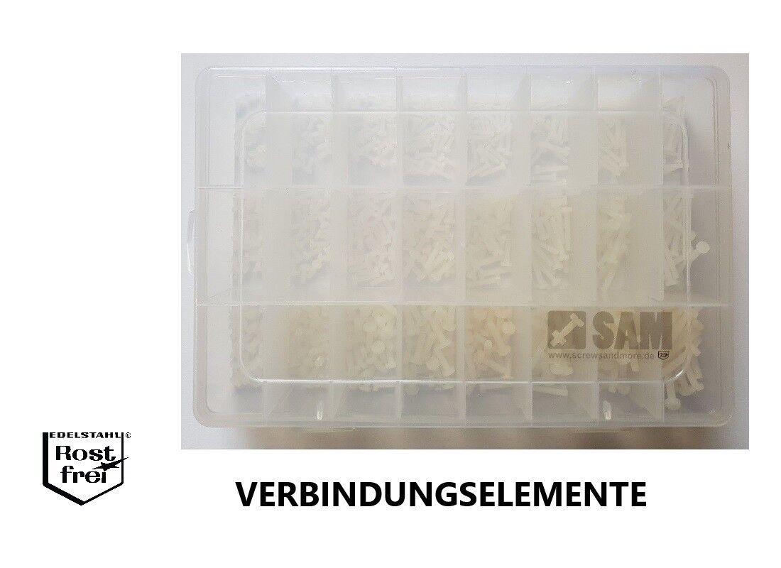 Viti a taglio assortimento con testata 600 Pezzi DIN 84 poliammide m2/m2,5/m3