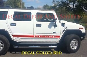 VINYL-DECALS-Stripes-2X-for-Both-Sides-HUMMER-H3-or-H2-Rocker-Panel-Graphics
