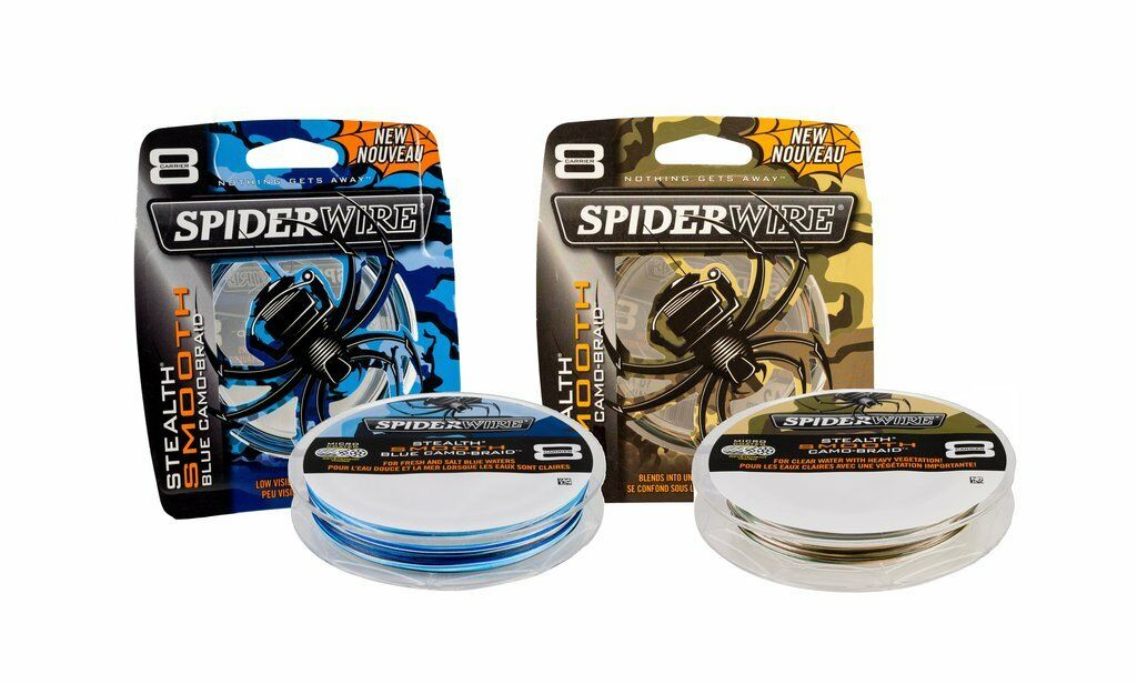 ( m) SPIDERWIRE Stealth Smooth 8 Camo - 8-fach Geflochtene Schnur 150m 300m