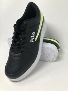 FILA-Mens-Tennis-Shoes-Black-Synthetic-Size-10-Sneakers-1CM00551-016-NWT
