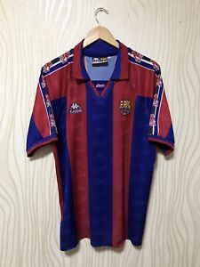 0317bd60326 BARCELONA 1995 1997 HOME FOOTBALL SOCCER SHIRT JERSEY CAMISETA KAPPA ...