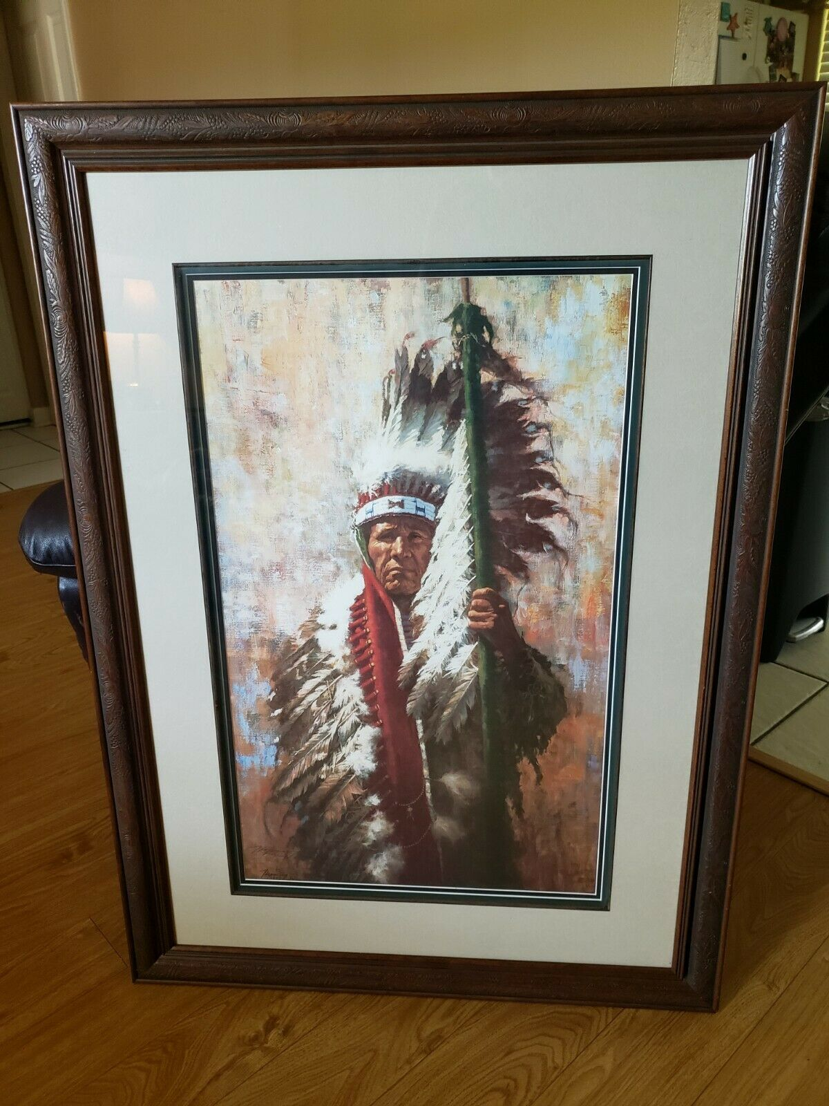 """Limited Edition Print by Howard Terpning """"The Strength of Eagles Indian Art LQQK on eBay thumbnail"""