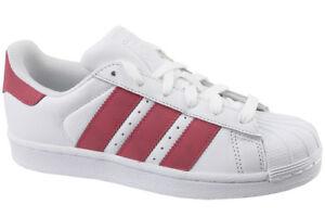 new style 28334 5895c adidas Superstar J White-pink Cq2690 38 White for sale online   eBay