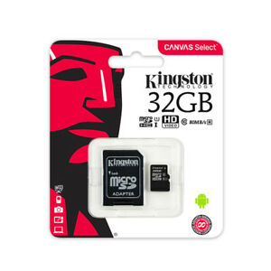 Kingston 32Go Micro SD SDHC/SDXC Class10 Carte Mémoire TF 80MB/s R avec Adapteur