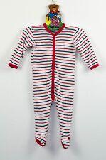 Alana - Langarm Schlafanzug / Strampler gestreift (wei0ß, blau, rot)G r. 62/68