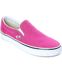 fd85a9f36d70 VANS CLASSIC SLIP-ON UNISEX Shoes (VERY BERRY TRUE WHITE) BRAND NEW ...