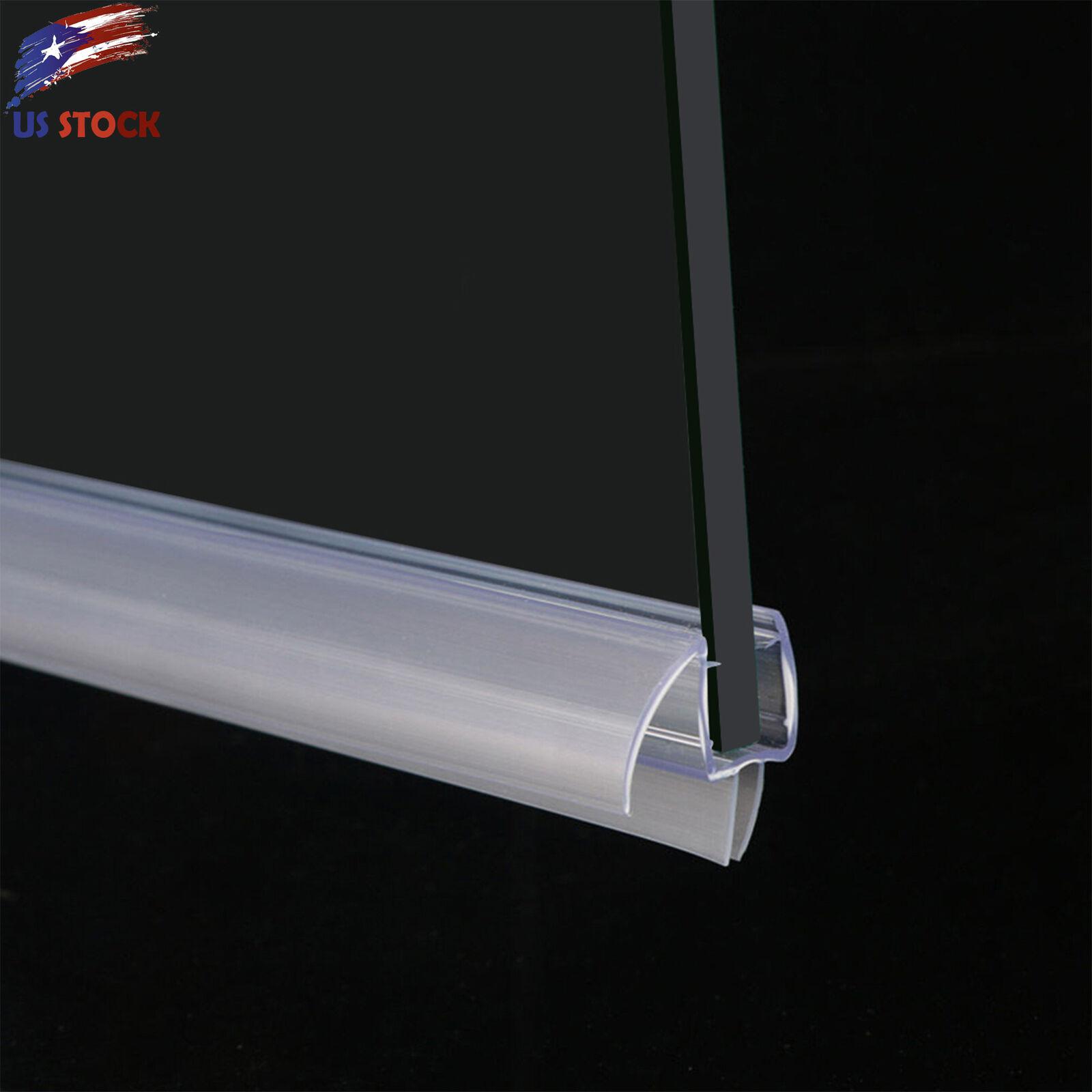 Elegant 3 8 Frameless Glass Shower Door Bottom Seal Sweep Rail 36 In Long