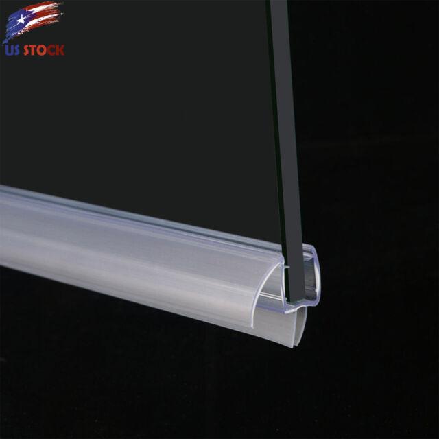 Elegant 38 Frameless Glass Shower Door Bottom Seal Sweep Rail 36