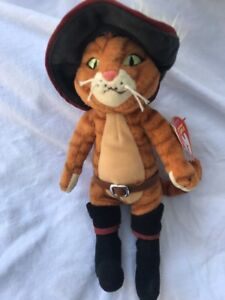 47b6891fd23 Ty Beanie Baby PUSS IN BOOTS the Cat Shrek DVD Exclusive MINT with ...