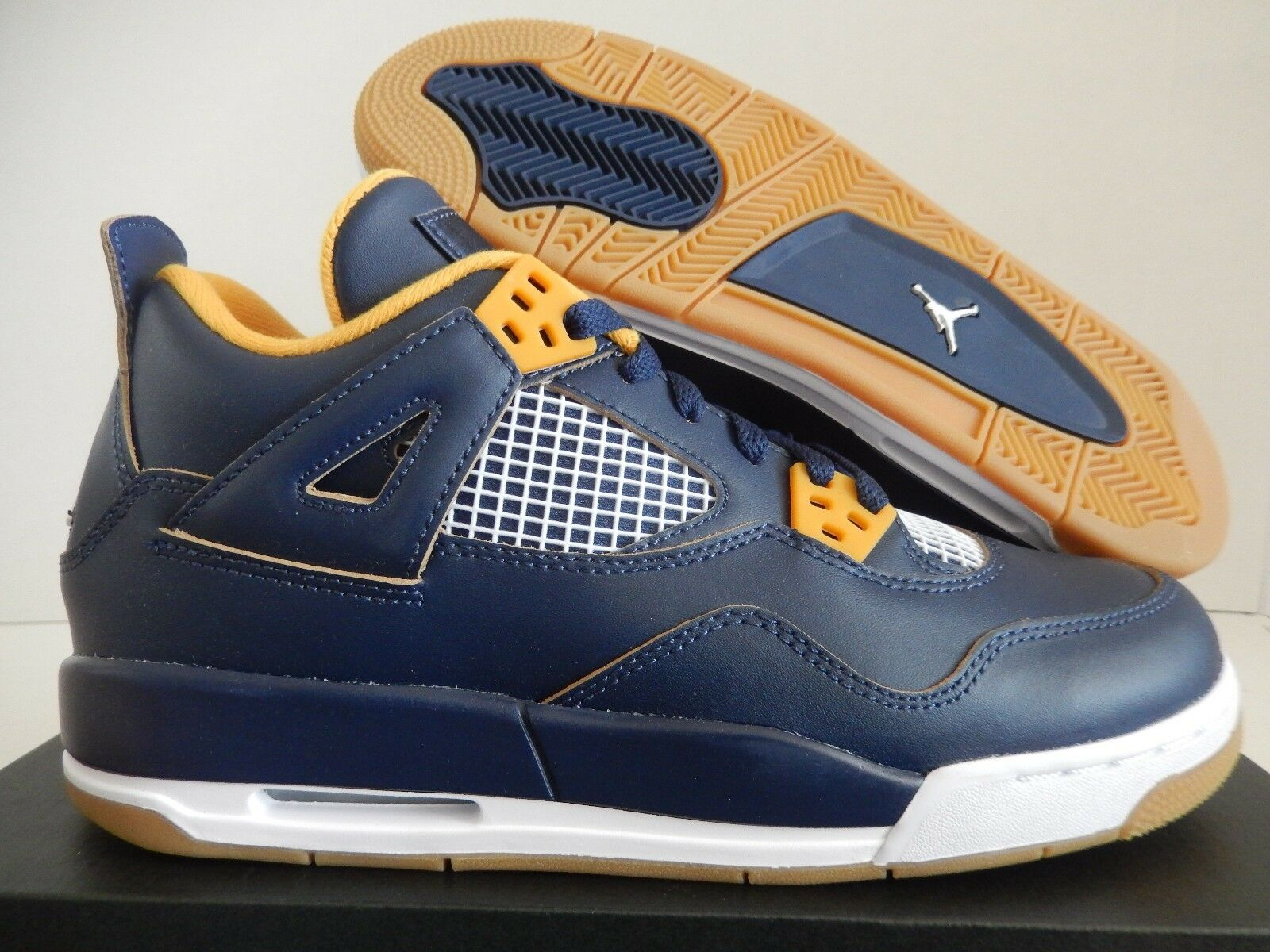NIKE AIR JORDAN 4 RETRO BG MIDNIGHT NAVY blueE SZ 7Y-WMNS SZ 8.5 [408452-425]