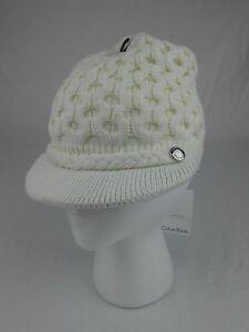 c0a4cc263cb Calvin Klein Woman s Winter Hat Honeycomb Cable Knit Beanie Cream ...
