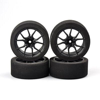 4Pcs Foam Tires/&12mm Hex Wheel Rims For HPI HSP RC 1//10 On-road Racing Car 23003