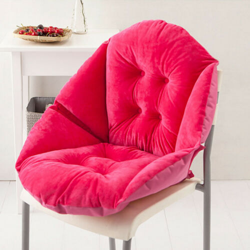 Foam Surrounded Cushion Shell Shape Warm Seat Sofa Pillow Chair Pad-Rose Red