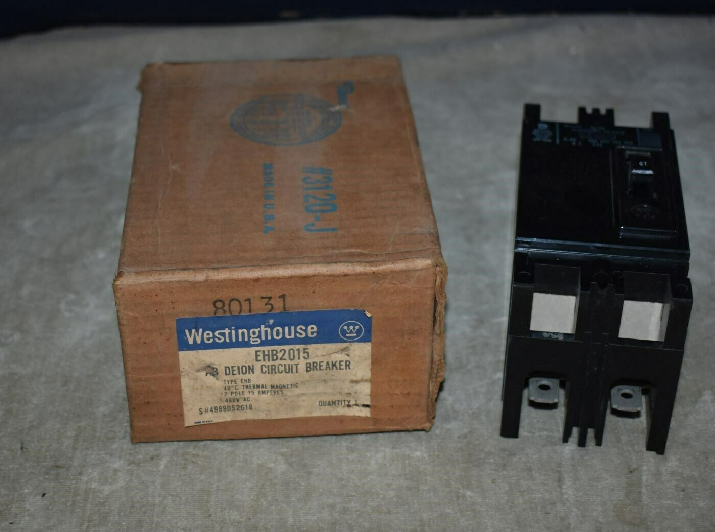 Westinghouse EHB2015 De-ion Circuit Breaker 15A 2-pole