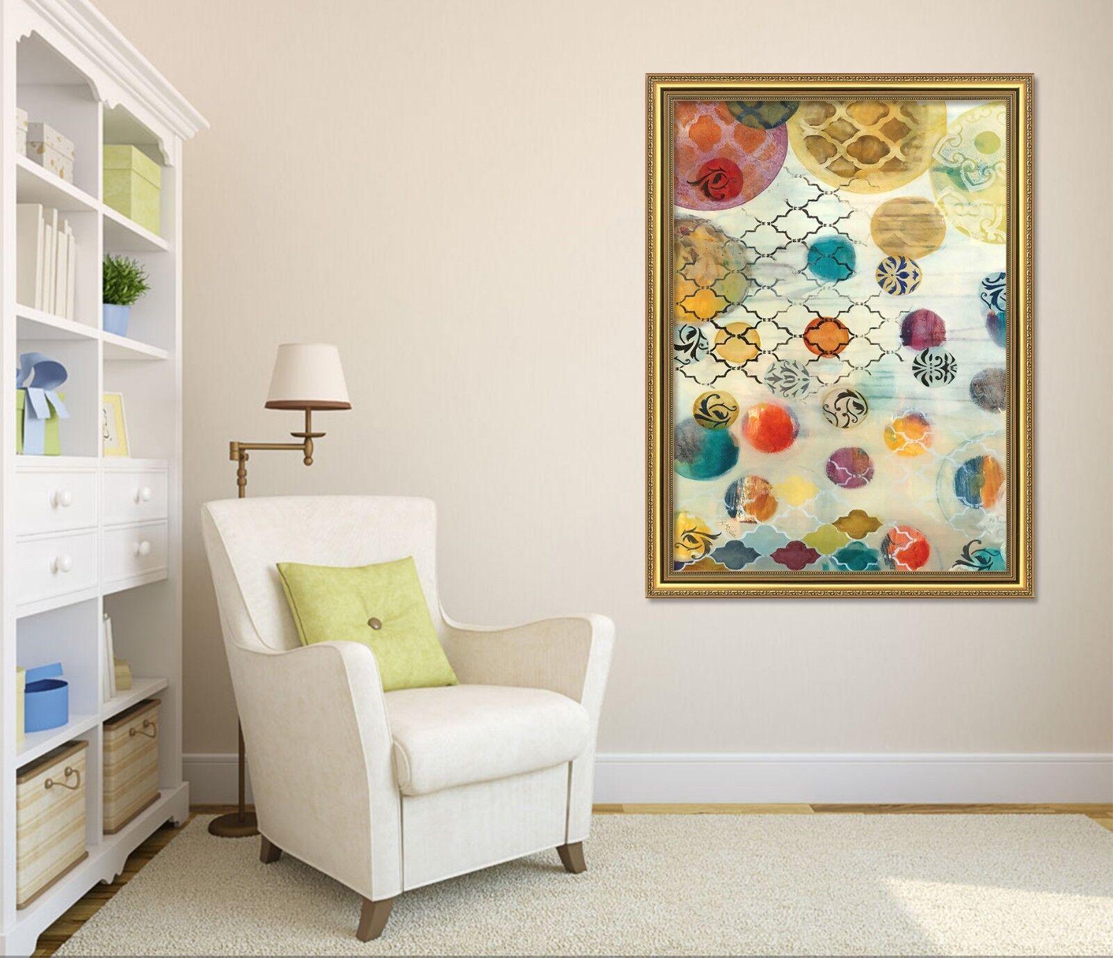 3D ColGoldt Circle 5 Framed Poster Home Decor Drucken Painting Kunst AJ UK