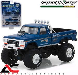 GREENLIGHT-29934-1-64-1974-FORD-F-250-MONSTER-TRUCK-BIGFOOT-1-BLUE