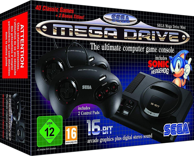 videogiochi e console: CONSOLE MINI SEGA MEGA DRIVES + 2 manettes + 40 jeux mythiques + notice.