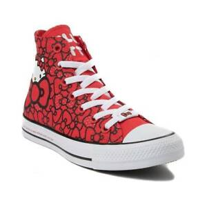 3956dae0f28d7 Details about Converse Hello Kitty Chuck Taylor All Star Bows Red 162995C  Women's Shoe Size 6