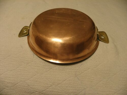 Vintage L Lecellier Villedieu copper au gratin pan or paella pan made in France