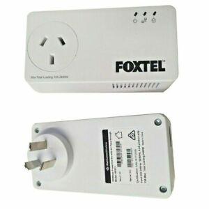 Netcomm-NP511-500Mbps-Powerline-Kit-x2-AC-Pass-Through-FOXTEL-Branded-Brand-New