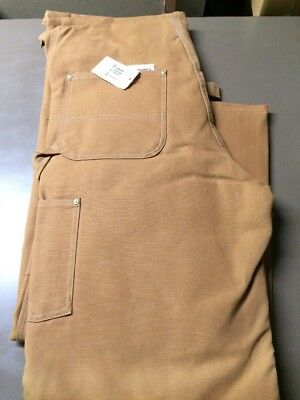 Size 42 X 30 NWT Mens Brown Duck High Back Carhartt Overalls