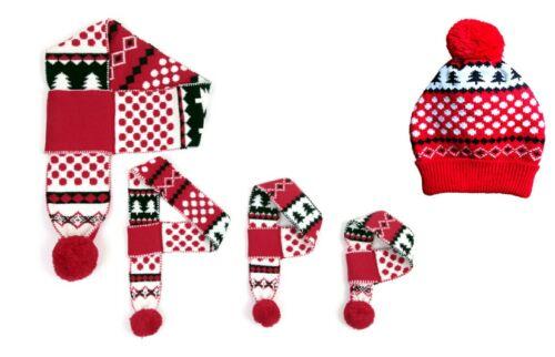 Navidad Navidad Copo De Nieve Bufanda Bufandas Bobble Sombrero que empareja Perro Bufandas humana Nuevos