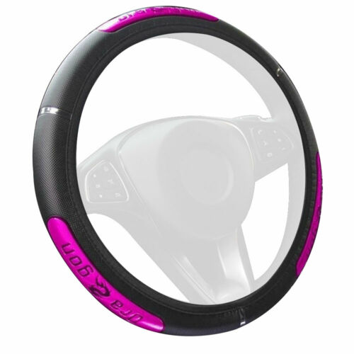 PU Leather Car Steering Wheel Cover Breathable Anti-slip Protector 15/'/'//38cm