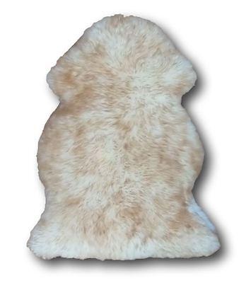 Extra Large Spiced Brown Sheepskin Rug 100 x 70cm Genuine New Zealand Fur Fleece