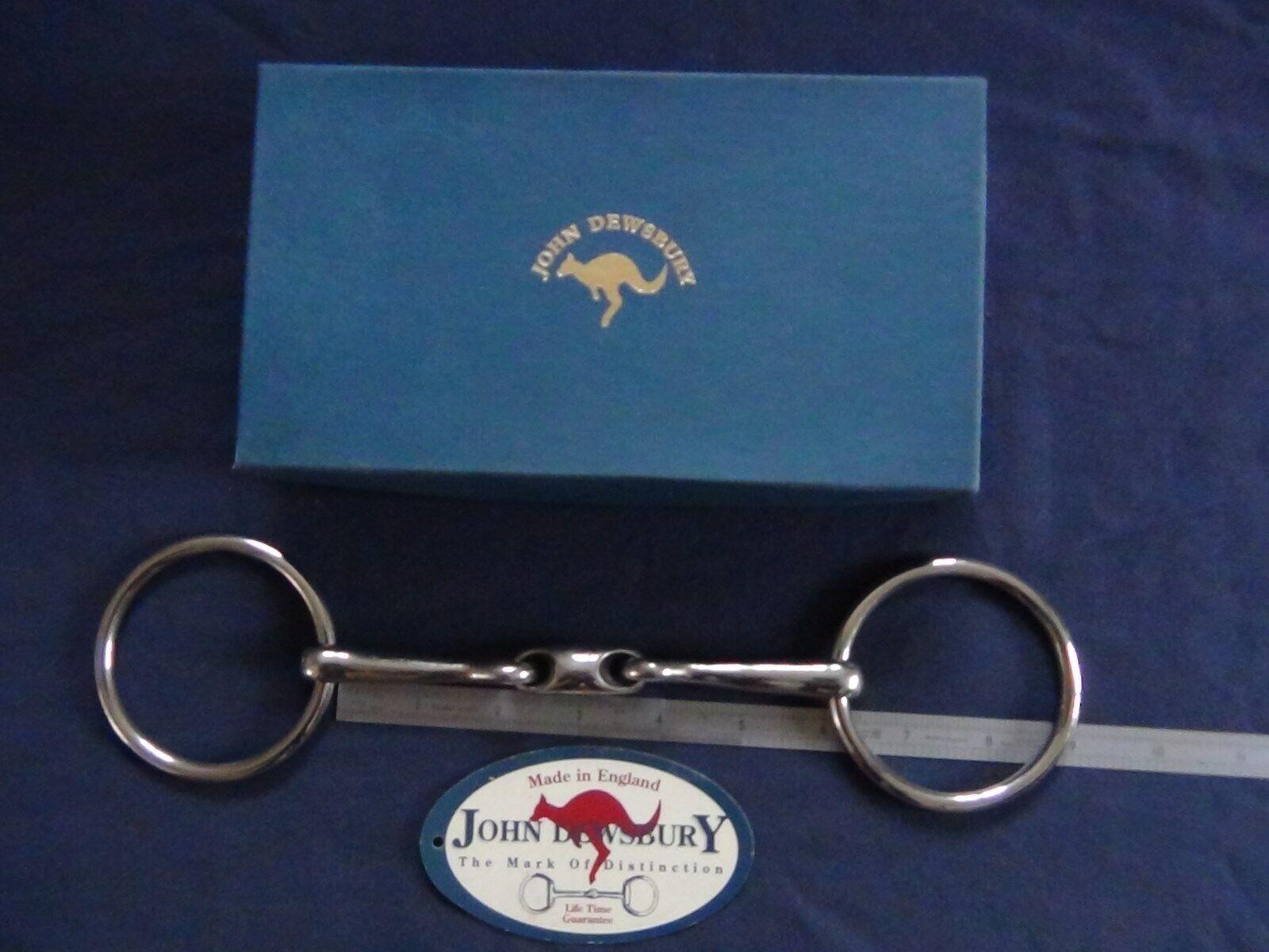 Genuine John Dewsbury Kangaroo Bit 6 , Dewsbury Link Snaffle -- signature bit