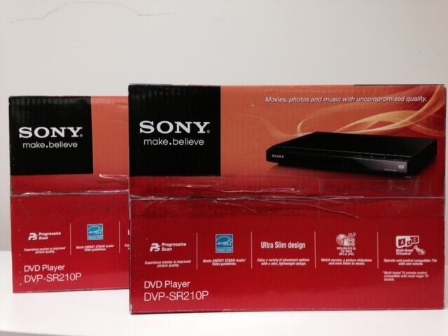 Sony DVP-SR210P DVPSR210P Progressive Scan DVD Player with Original Box