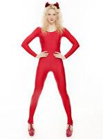 Red Dance Halloween Devil Fancy Dress Unitard Catsuit Costume Outfit KDC012