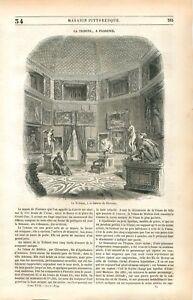 La-Tribune-Musee-Galerie-de-Florence-Firenze-Italia-Italie-GRAVURE-PRINT-1849