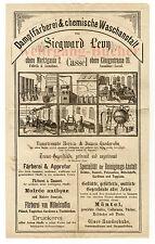 Siegward Levy, Kassel, Rechnung an die Gräfin zu Waldeck um 1870