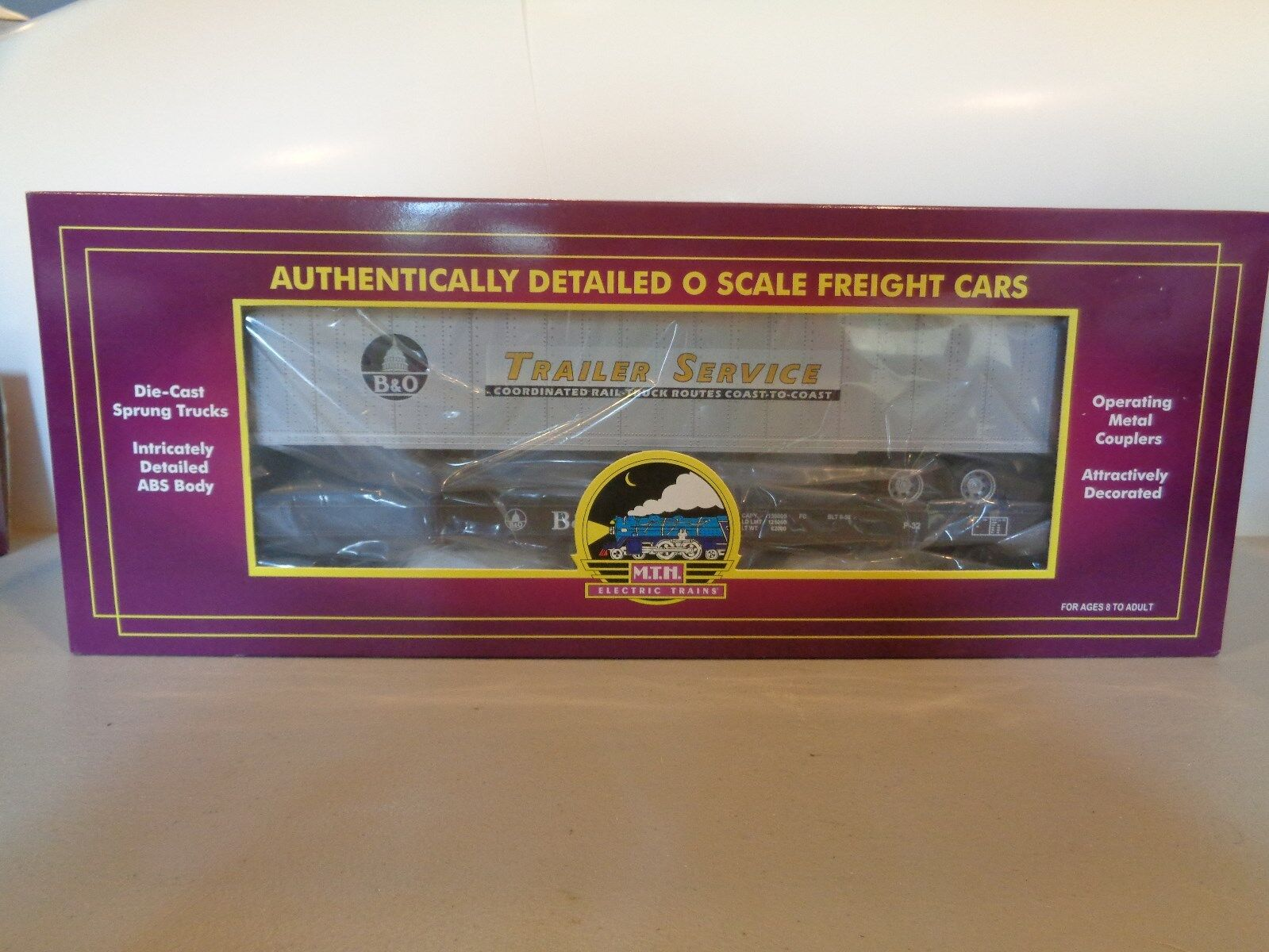 MTH Trains Baltimore & Ohio Flat Car w  48' Trailer Item MIB