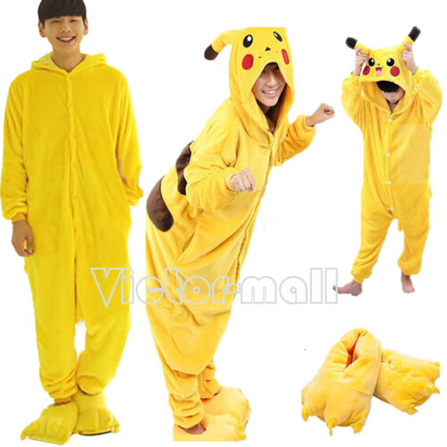 Kids Adults Cute Animal Kigurumi Pajamas Cosplay Ones*e Sleepwear Slippers Shoes