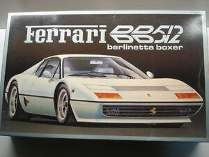 Fujimi-1-16-Scale-Vintage-Ferrari-BB512-Model-Kit-Used-Very-Rare-Motorisable