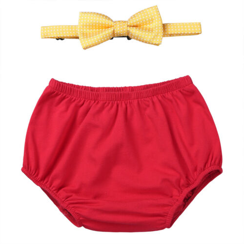 Boys Baby Outfits Kid Birthday Cake Smash Diaper Bloomers Playsuit Photo Props