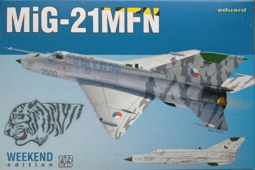 Eduard 1//72 EDK7452 Mikoyan Gurevich MiG-21MFN Weekend Ed Model Kit