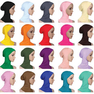 Muslim-Women-Ninja-Head-Cover-Bonnet-Hat-Underscarf-Hair-Loss-Hijab-Cap-Scarf