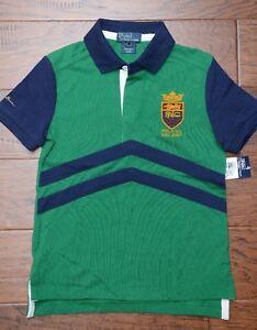 Polo Ralph Lauren Boy's P. R. L. C. Patch Green Cotton Polo Shirt Toddler 2T
