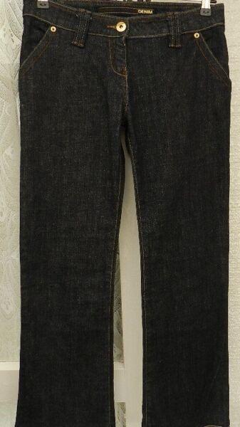 """(rif. 184) Authentic Vintage-taglia 10 W 30"""" - Donna Blu Denim Jeans Taglio Diritto"""