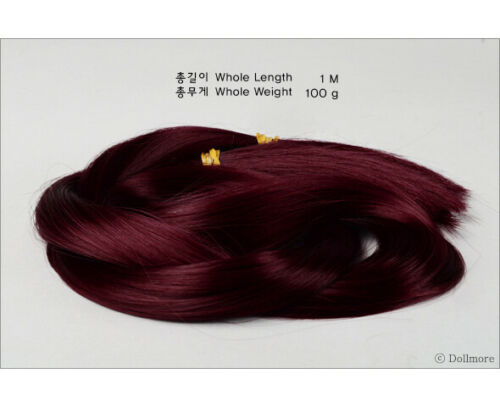 U-530 Wine: 100g OOAK BJD rooting hair Heat and Flame Resistant Hair DM