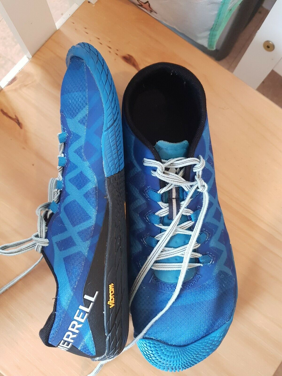 MERRELL Vapor Glove 3 Blue Trainers Shoes Mens Uk 8.5 (EU 43)