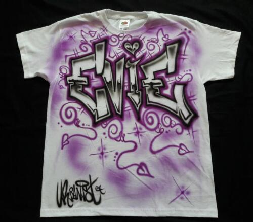 Urbanist Custom name kids Hiphop Streetdance T-shirt Airbrushed Block Graffiti